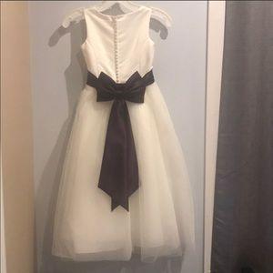 David's Bridal Flower Girl Dress with 3 sashes